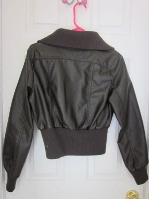 Jou Jou Dark Brown Leather Jacket