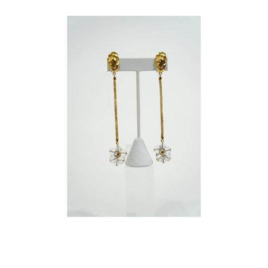 Other Vintage Gold Tone Murano Glass Dangle Drop Earrings.