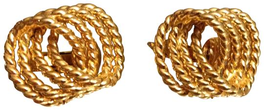 Trifari Trifari Gold Tone Knot Earrings Clip On