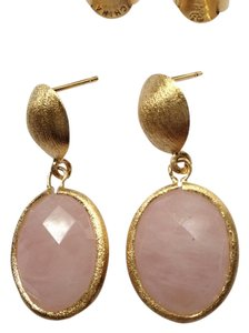 Ruby Rd. Genuine Rose Quartz Gemstone Drop Earrings