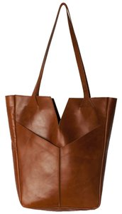 Raven + Lily Leather Brown Clutch
