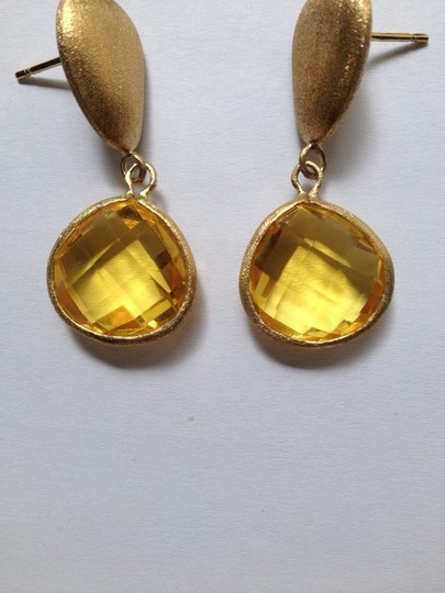 Ruby Rd. Natural Yellow Stone Drop Earrings