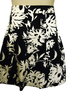 Lane Bryant A-line Floral Full Skirt Black & White
