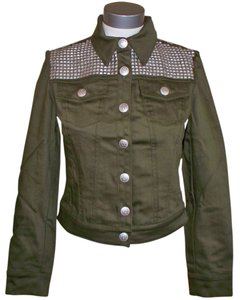 Rock & Republic Studded Denim & Phoebe Green Womens Jean Jacket
