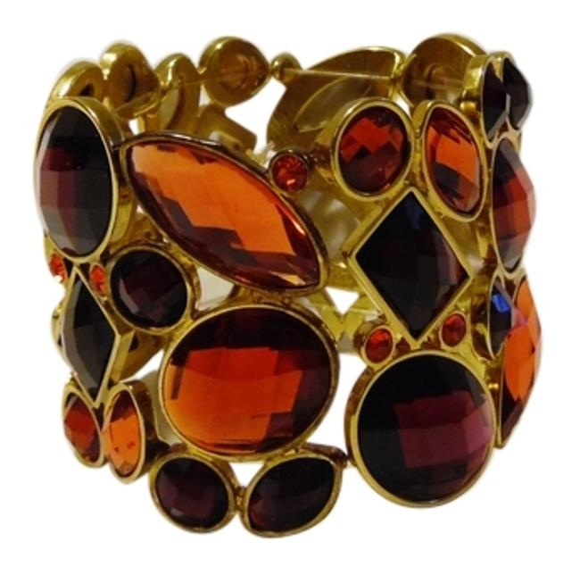 Item - Red Couture Faceted Resin Expansion Bracelet