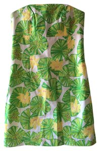 Lilly Pulitzer Strapless Tie-back Frog Lily Pad Dress