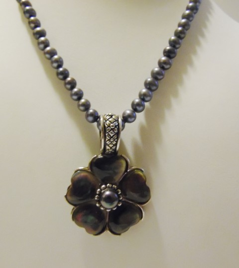 """Honora Honora Black Pearl Necklace with Enhancer 16"""""""