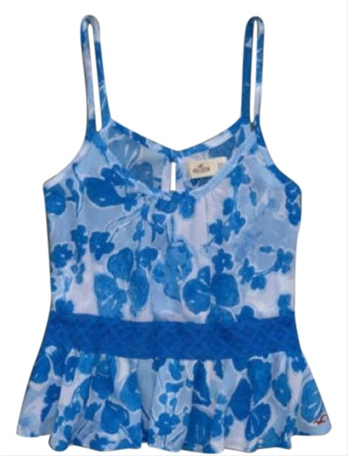 Preload https://item4.tradesy.com/images/hollister-blue-white-floral-tank-topcami-size-12-l-410033-0-2.jpg?width=400&height=650