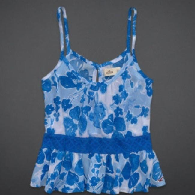 Hollister Top blue white