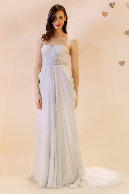 Item - Silver/Grey Silk Lumiere Vintage Wedding Dress Size 4 (S)