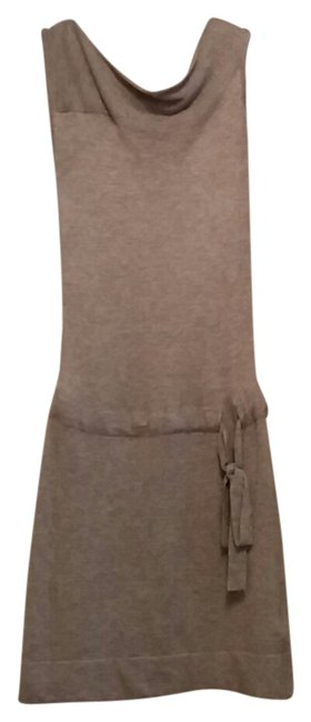 bebe short dress Heather grey Sleeveless Wool Summer Mini on Tradesy