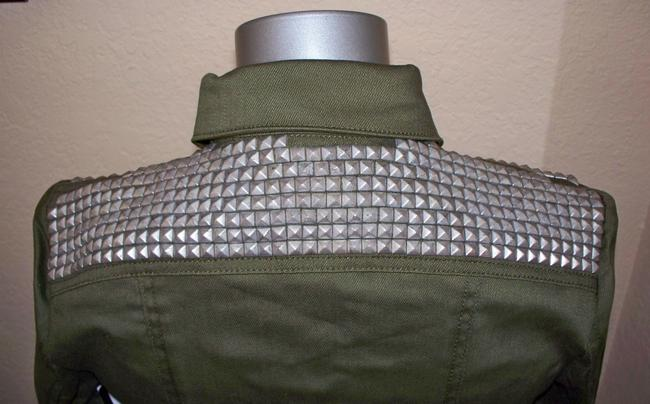 Rock & Republic Studded Phoebe Green Womens Jean Jacket
