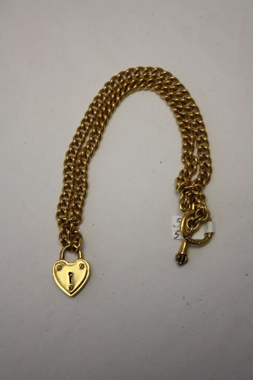 Juicy Couture Juicy Couture Gold Heart Locket Pendant Necklace