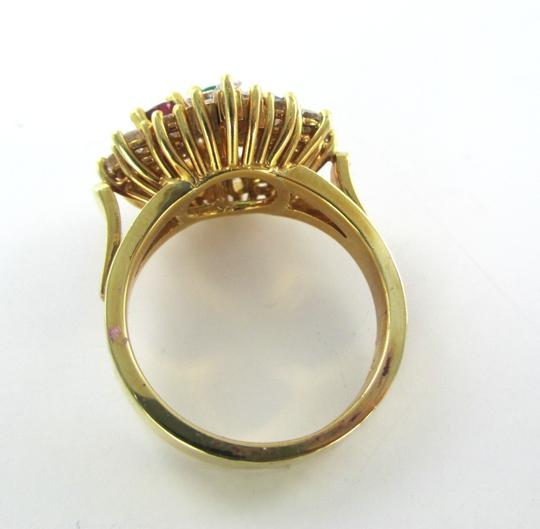 Other 18K SOLID YELLOW GOLD RING NOT SCRAP 16 GENUINE DIAMONDS 1.00 CARAT SZ 7 WEDDING