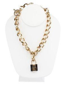 Burberry Burberry Gold Tone Metal Link Necklace (48148)