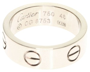 Cartier CARTIER 18K White Gold Love Ring US SIZE 4.5