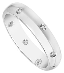 Bailey Banks Biddle Tiffany Etoile Style Silver & Diamond Eternity Band, 0.18 Carat