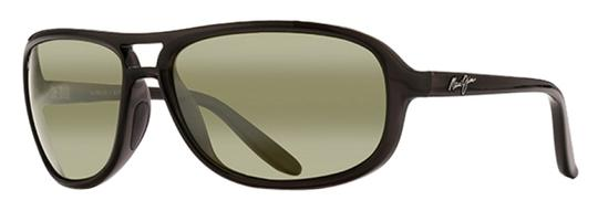 Maui Jim Maui Jim HT288-11 Translucent Dark Grey/Maui HT Green Lens Sunglasses
