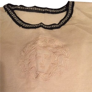 Versace Top Ivory And Back