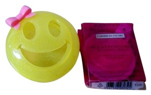Bath and Body Works Bath & Body Works Smiley Face Scentportable Holder & Scentportable Carribean Escape 2-Pack Fragrance Refills