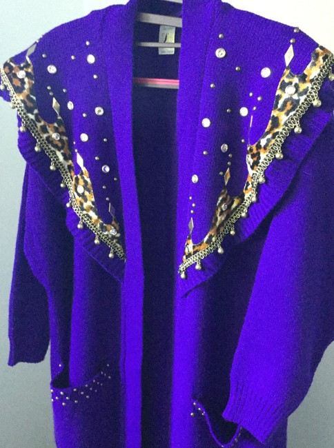 Other Crystals Xl Size Creative Artistic Knit Pea Coat