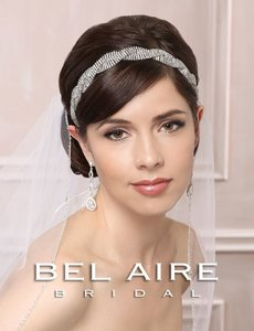 Bel Aire Bridal Headband/belt 6478