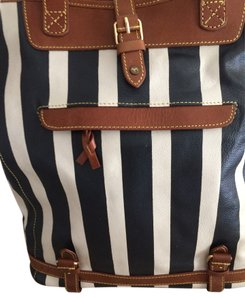 Anthropologie Tote in blue/white striped
