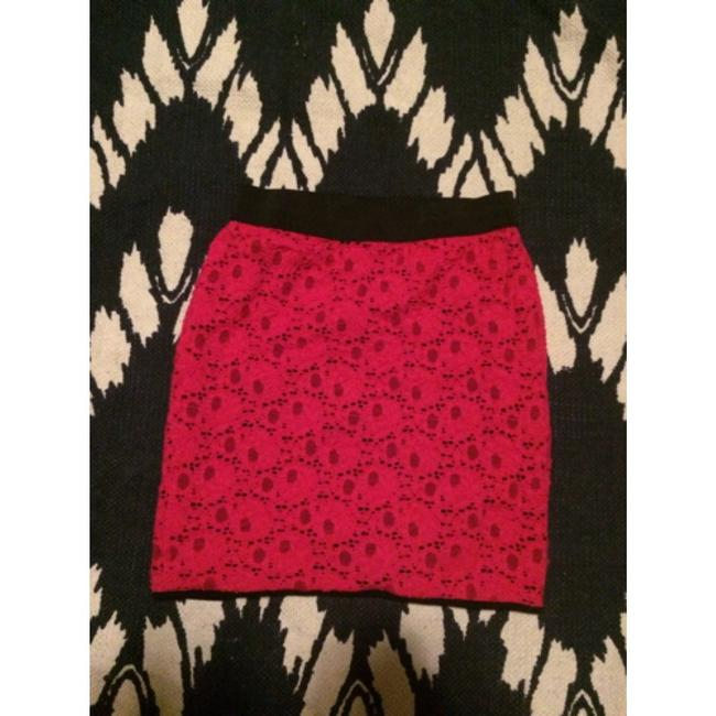 Urban Outfitters Lace Mini Neon Floral Black Mini Skirt Pink