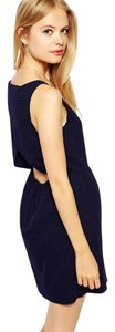 Jack Wills short dress navy blue Textured Open Back on Tradesy