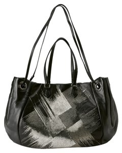 Valentino Brand New Creamy Leather Tote in Black