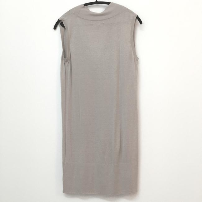 Zara short dress Beige Silk + Cotton on Tradesy