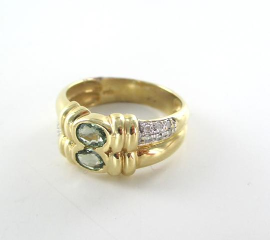 Other 14K SOLID YELLOW GOLD RING 4.1G NOT SCRAP 12 GENUINE DIAMONDS WEDDING BAND SZ 7