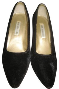 Ann Marino Velvet Pumps Black Formal