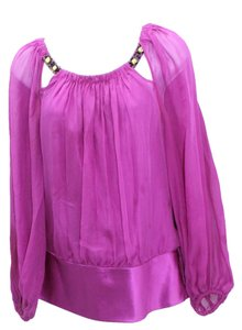 Marc Bouwer Glamiti Mulberry Silk Chiffon Top