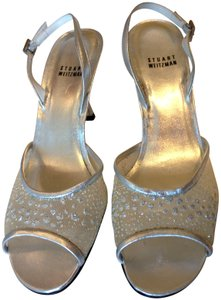 Stuart Weitzman Autthentic Designer Wedding Silver Sandals