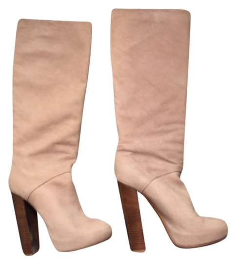 Brian Atwood Cream leather Boots