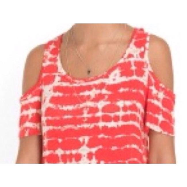 Guess Tie & Dye Xs Rayon Open-back T Shirt Orange