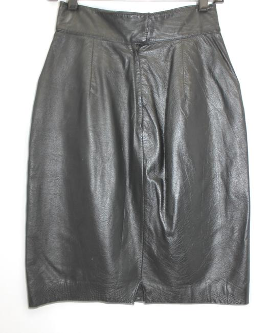 WEST BAY Leather Pencil Skirt BLACK