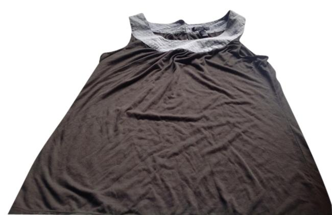 Item - Gray with Baby Blue Trim Sleeveless Style Halter Top Size 12 (L)