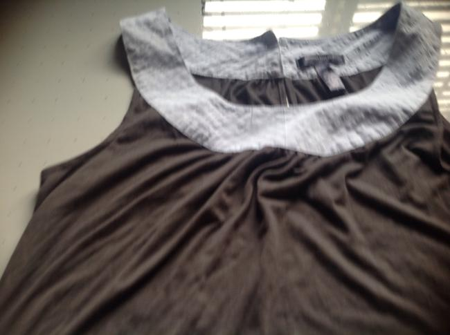 Banana Republic Ba An And Cotton. Great Gray with baby blue trim Halter Top
