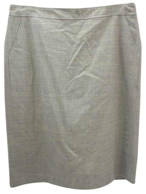 Banana Republic Stretch Wool Pencil Skirt LIGHT GRAY