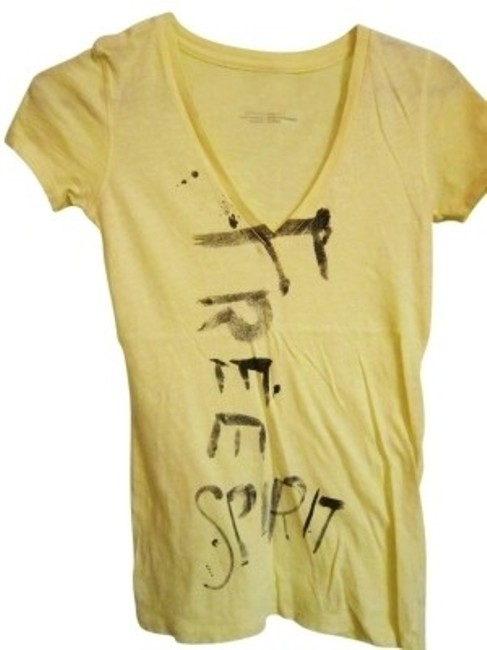 Preload https://item2.tradesy.com/images/aerie-light-yellow-tee-shirt-size-2-xs-41086-0-0.jpg?width=400&height=650