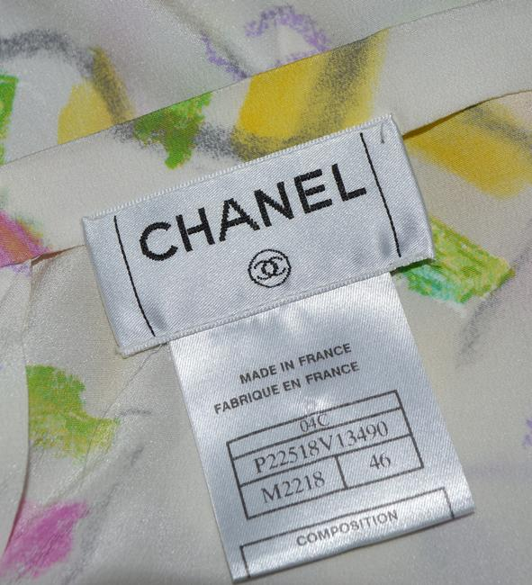 Chanel Skirt Ivery / Pink /. Yellow ./ Multi