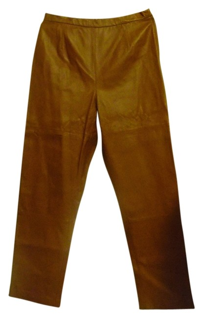 Terry Lewis Classic Luxuries Straight Pants Brown