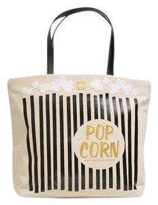 Kate Spade Rare Popcorn Striped Fun Tote in White