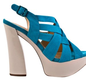 Report Signature Summer Bright Color Party Teal Sandals