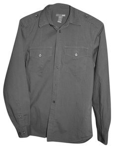 H&M Dress Shirt Button Down Shirt Gray