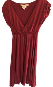 Max Studio short dress Wine/Burgundy on Tradesy