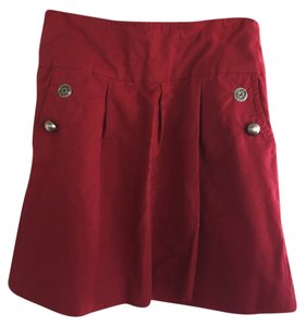 Anthropologie Elevenses Wine Skirt Wine/Red