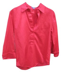 Escada Popover 3/4 Sleeve Top Red